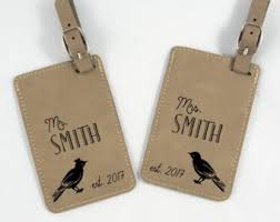 his and hers wedding gifts wedding gift personalized luggage tag leatherette bag tag