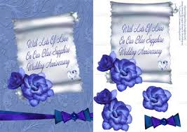 65 wedding anniversary our blue sapphire wedding anniversary card cup130047 614