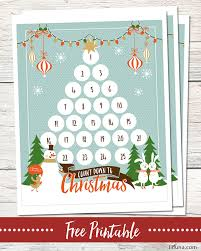 free christmas countdown printable download and use this cute