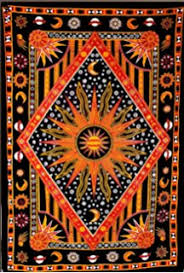Wall Rugs Hanging Amazon Com Handicrunch Black Zodiac Horoscope Tapestry Indian