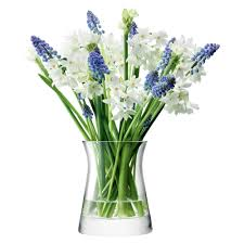 buy lsa international flower clear garden posy vase 13cm amara