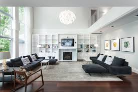 Decorating With Area Rugs On Hardwood Floors by Hardwood Frames Covered In White Leather Sofa Mini Home Theatre