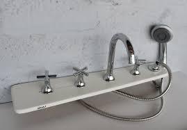 5 piece tub faucet w extendable shower head bathtub mounted