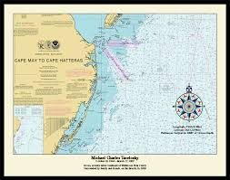 Map Of The United States With Compass by Nautical Memory Chart New England Burials At Sea