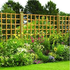 trellis christchurch wickes fence panel trellis square lattice autumn gold 1 83 x 1 83m