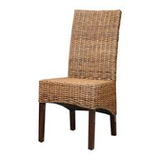 Tropical Dining Room Chairs Houzz - Wicker dining room chairs