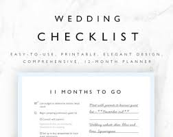 wedding todo checklist wedding to do list etsy