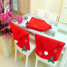 christmas dinner order online santa claus hat chair back covers for christmas party