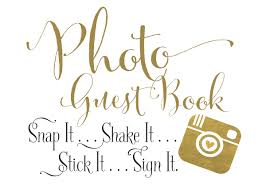 wedding guest book sign instant photo guest book sign photo wedding guest book