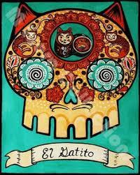 dia de los muertos home decor floral skull mini painting dia de los muertos art 3x7 illustration