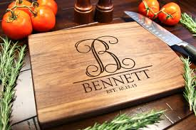 monogramed cutting boards walnut personalized cutting board vine initial cabanyco
