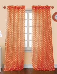 Sheer Curtains Orange Alluring Sheer Curtains Orange Ideas With 4 Styles Of Orange Sheer
