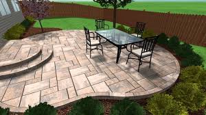 Backyard Concrete Patio Ideas by Stylish Stamped Concrete Patio Steps On Random Pattern Floor Tiles