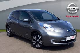 nissan leaf tekna offers used nissan leaf grey for sale motors co uk
