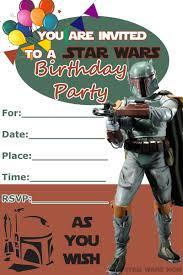 wars party wars birthday party invitations sansalvaje