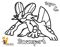 pokemon coloring pages printable mudkip google search coloring