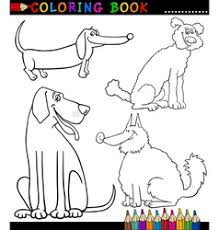 cartoon shaggy dog for coloring book royalty free vector