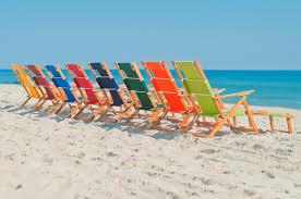 Fully Reclining Beach Chair Breakwater Bay Portsville Oak Wood Commercial Grade Beach Chair