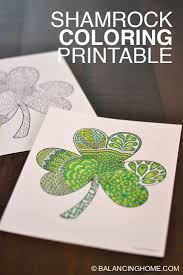 shamrock coloring printable balancing home with megan bray