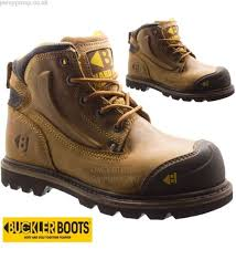 boots uk wide fit buckler leather wide fit steel toe cap safety shoes work boots