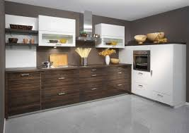 brown island cabinet in wax finished g shaped kitchen designs
