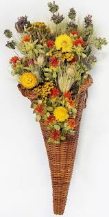 thanksgiving bouquet dried flower cornucopia horn of thanksgiving
