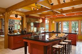 timber frame great room lighting timber frame kitchen designs traditional kitchen new york by