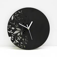 laser cut wall clock modern floral design by antpgomes 3d