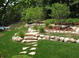 Shady Backyard Landscaping Ideas Decoration In Landscaping Ideas For A Hill In Backyard Landscaping