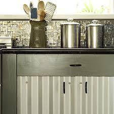 Material For Kitchen Cabinet Creative Kitchen Cabinet Ideas Corrugated Metal Southern Living