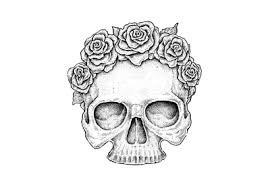 skull tattoos thigh in and drawing coloring pages