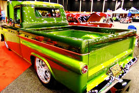 Classic Chevy Custom Trucks - video a clean green 1959 chevy pickup to drool over