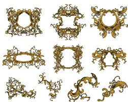 golden vintage ornate frames set vector free