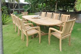Good Quality Teak Product Rectangle Brown Dining Table Teak Outdoor Furniture With Full