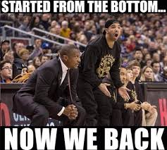 Nba Playoff Meme - drake watching the toronto raptors getting eliminated from the
