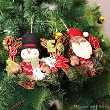 wooden christmas wreath christmas decorations for home santa claus