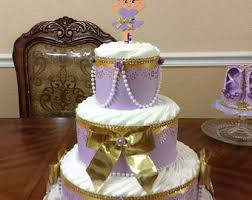 diaper cake elegant baby shower 3 tier diaper cake