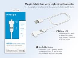 innergie introduces magicable duo with lightning connector for