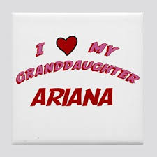 arian love com my name is ariana coasters cafepress