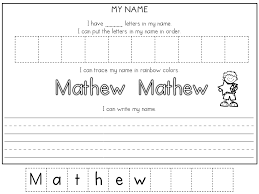 learning to write your name worksheets for preschoolers