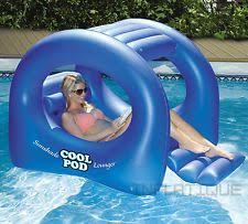 Floating Pool Lounge Chairs Grey Inflatable Lounge Chair Lilo Air Mat Pool Lake Float Swimming