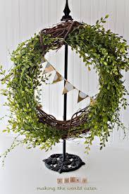 Spring Wreath Ideas Easy Spring Wreath St Patricks Day