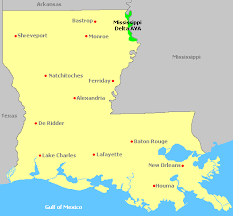 louisiana map areas map of louisiana