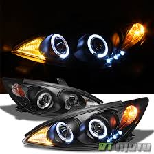 2004 toyota camry lights for blk 2002 2006 toyota camry led halo projector headlights ls