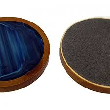 wooden drink coaster drink coaster set of 6 with wooden base blue