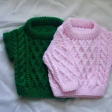treabhair pdf knitting pattern for baby or toddler cable sweater