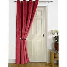 Velvet Curtain Club Grey Velvet Single Door Curtain Eyelet Blackout U0026 Thermal 229cm