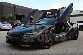 Bmw I8 Mirrorless - red sox player spends 45k to make his bmw i8 glow