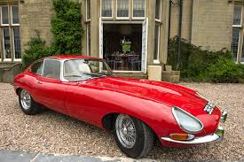 antique jaguar e type wedding car hire