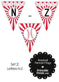 red baseball party flag letters n z u2014 printable treats com